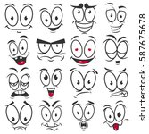 smile emoticons and emoji faces ... | Shutterstock .eps vector #587675678
