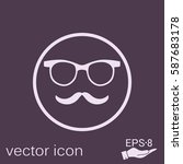 mustache and glasses. hipster... | Shutterstock .eps vector #587683178