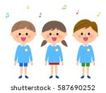 Singing  Kindergarten Child ...