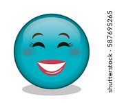emoticon face character icon | Shutterstock .eps vector #587695265
