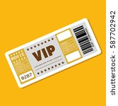 vip ticket entrance icon | Shutterstock .eps vector #587702942