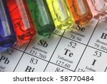 test tubes and periodical table ... | Shutterstock . vector #58770484