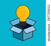 bulb light big idea concept   Shutterstock .eps vector #587705012