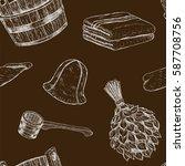 seamless pattern items for... | Shutterstock .eps vector #587708756