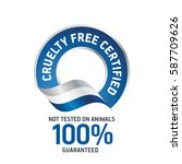 cruelty free certified blue... | Shutterstock .eps vector #587709626