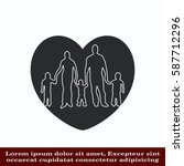 family icon  vector... | Shutterstock .eps vector #587712296