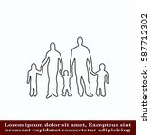 family icon  vector... | Shutterstock .eps vector #587712302