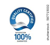quality certified blue ribbon... | Shutterstock .eps vector #587715032