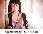 a portrait of a mixed race... | Shutterstock . vector #58771618