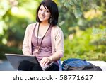 mixed race college student... | Shutterstock . vector #58771627