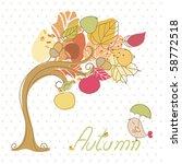 autumn tree | Shutterstock .eps vector #58772518