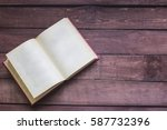 open book is lying on the... | Shutterstock . vector #587732396