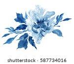 clip art hand painted... | Shutterstock . vector #587734016