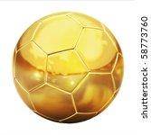 Golden Football  Soccer Ball ...