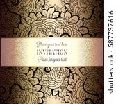 baroque background with antique ... | Shutterstock .eps vector #587737616