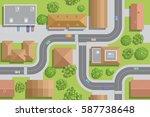 seamless pattern cityscape. ... | Shutterstock .eps vector #587738648