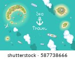 vector illustration. summer... | Shutterstock .eps vector #587738666