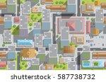 seamless pattern cityscape. ... | Shutterstock .eps vector #587738732