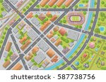 vector illustration. city top... | Shutterstock .eps vector #587738756