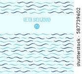 waves vector background. marine ... | Shutterstock .eps vector #587739602