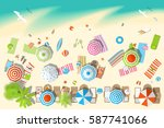 vector illustration. sunny... | Shutterstock .eps vector #587741066