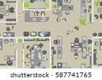 seamless pattern. office top... | Shutterstock .eps vector #587741765