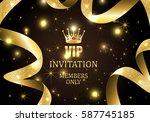 vip invitation members only ... | Shutterstock .eps vector #587745185