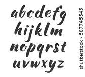 vector handwritten alphabet.... | Shutterstock .eps vector #587745545