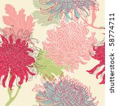 flower seamless pattern | Shutterstock .eps vector #58774711
