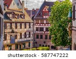 historical old town of... | Shutterstock . vector #587747222