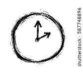 Grunge Clock With Arrow  Vecto...