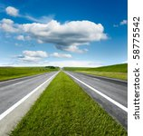 Landscape With Road And Cloudy...
