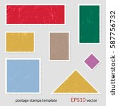 postage stamp template | Shutterstock .eps vector #587756732