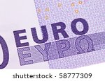 Close Up Of A Euro Banknote Of...