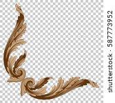 corner ornament in baroque... | Shutterstock .eps vector #587773952