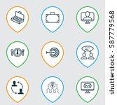 set of 9 business management... | Shutterstock . vector #587779568