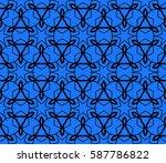 seamless decotative geometric... | Shutterstock . vector #587786822