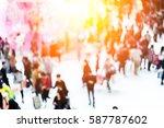 bokeh shopping mall background | Shutterstock . vector #587787602