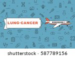 """airplane with banner """"lung...   Shutterstock .eps vector #587789156"""