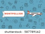 airplane with banner ...   Shutterstock .eps vector #587789162