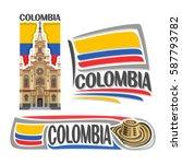 vector logo colombia  3... | Shutterstock .eps vector #587793782