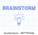 hand drawn brainstorm sign and... | Shutterstock .eps vector #587794436