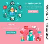 medicine horizontal flat... | Shutterstock .eps vector #587800802