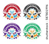 latin american native colorful...   Shutterstock .eps vector #587801996