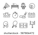 set of sport icons. thin...   Shutterstock .eps vector #587806472