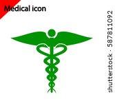 medical icon on white... | Shutterstock .eps vector #587811092