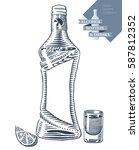 hand drawn vector illustration... | Shutterstock .eps vector #587812352