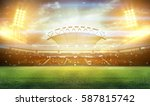 stadium in lights and flashes... | Shutterstock . vector #587815742