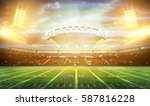 stadium lights at night and... | Shutterstock . vector #587816228