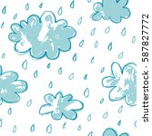 seamless rainy pattern | Shutterstock .eps vector #587827772